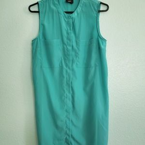Mossimo turquoise shirt dress S/P